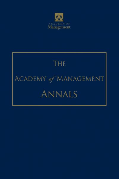 academy of management journal2003 vol Journal articles indexed in academy of management journal 5 free download full-text articles in the journals.